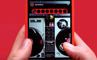 Bacardi transforme les Stories d'Instagram en table de mixage