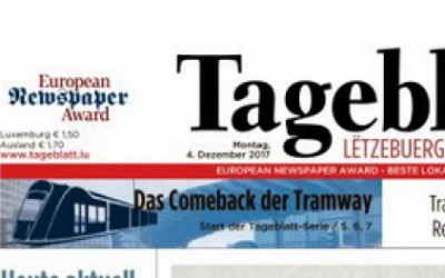 Le Tageblatt primé aux European Newspaper Awards