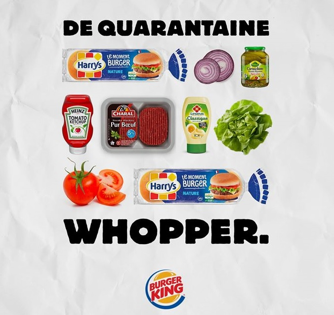 Burger King onthult het recept van de Quarantaine Whopper